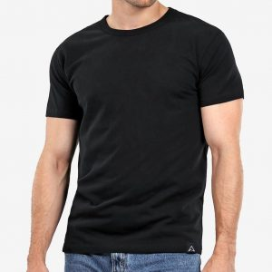 camiseta básica negra hombre