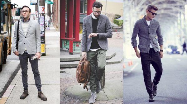 tres combinaciones distintas para vestir unos joggers